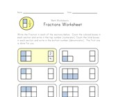 beginner fractions worksheet