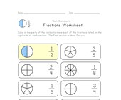 color fractions worksheet