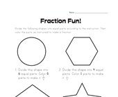 Fraction Fun Worksheet 2
