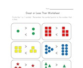 easy greater less worksheet