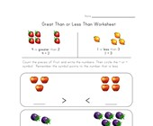greater less worksheet fruit