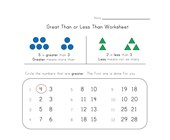 less greater math worksheet