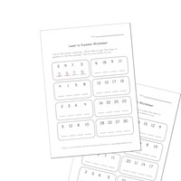 sequence least to greatest worksheets