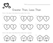 greater than less than picture comparison worksheet