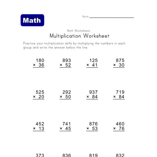Worksheets 3 Digit Multiplication Worksheets multiple digit multiplication worksheets all kids network