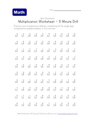 Multiplication Worksheets For Kids All Kids Network