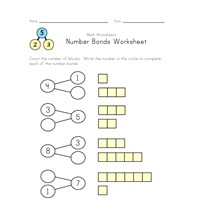 easy number bonds worksheet