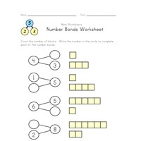 beginner number bond worksheet