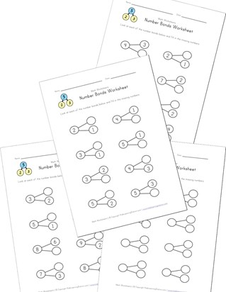 Number bond worksheets all kids network ibookread PDF