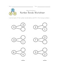 number bonds 2 though 9 worksheet 1