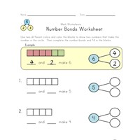 number bonds review worksheet