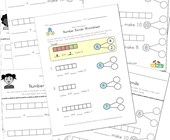 beginner number bonds worksheets