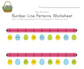 Easter Number Line Worksheet with Decimals