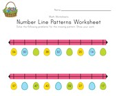 Easter Number Line Worksheet