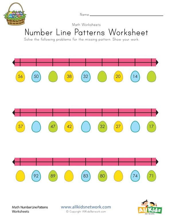 Easter Number Line Worksheet All Kids Network