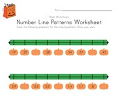 Halloween Number Line Worksheet with Decimals