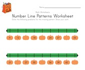 Halloween Number Line Worksheet