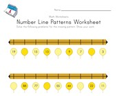 New Year Number Line Worksheet