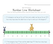 Number Line Worksheet 1