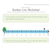 Number Line Worksheet 2