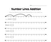 Number Lines Addition Worksheet 1