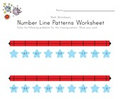 Patriotic Number Line Worksheet with Decimals