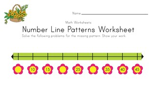 Spring Number Line Worksheet