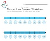 Winter Number Line Worksheet