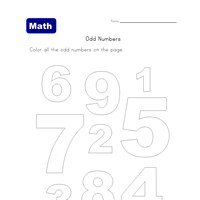 color odd numbers worksheet