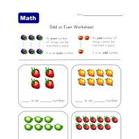 even and odd fruit worksheet