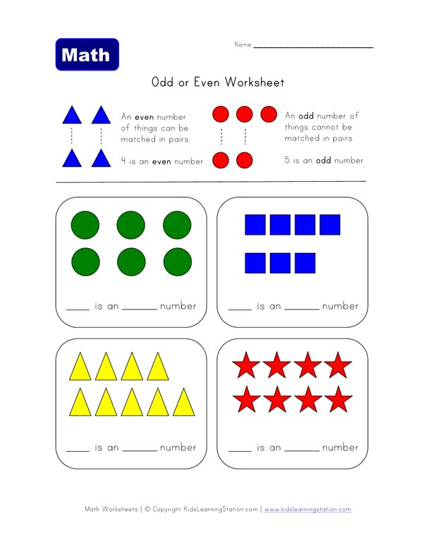 Odd And Even Numbers Worksheet All Kids Network