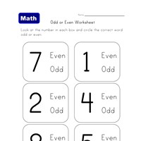learn even odd worksheet