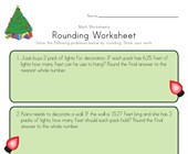 Christmas Rounding Worksheet
