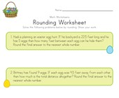 Easter Rounding Worksheet