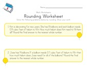 New Year Rounding Worksheet