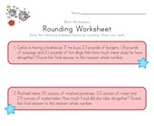Patriotic Rounding Worksheet