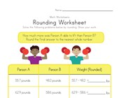Rounding Worksheet - Weight Lifting