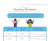 Rounding Worksheet - Scoring Points