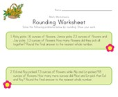 Spring Rounding Worksheet