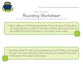 St. Patrick's Day Rounding Worksheet