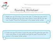 Winter Rounding Worksheet