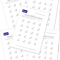 single digit multiplication worksheets