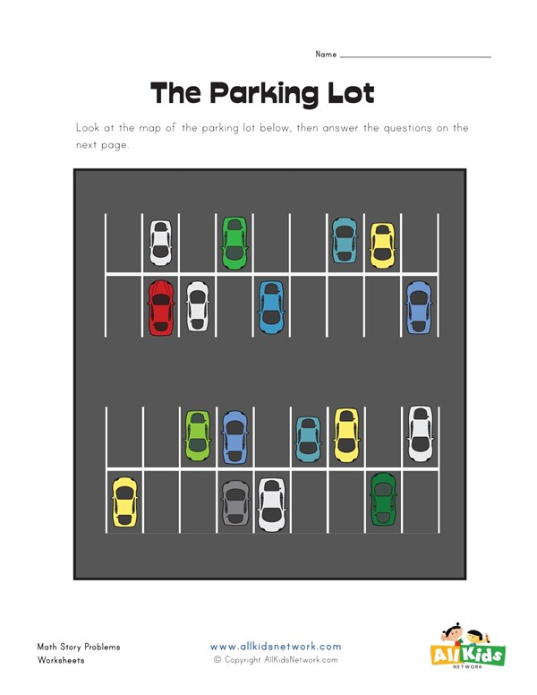 Parking lot story problems worksheet all kids network ccuart Choice Image