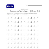 Printables Subtractions Worksheets subtraction worksheets for kids all network