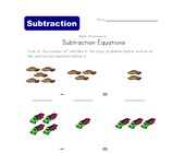 kindergarten subtraction worksheet