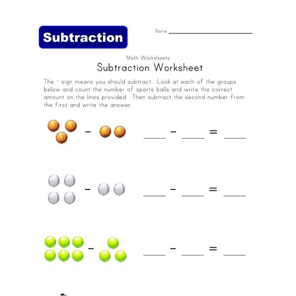 Number Names Worksheets subtraction worksheet with pictures : Picture Subtraction Worksheets | All Kids Network
