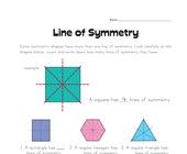 Lines of Symmetry Worksheet 1