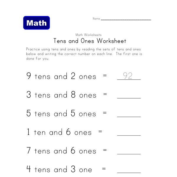 Worksheet Tens And Ones Worksheets 10 excellent free place value worksheets all kids network