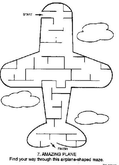 Easy Maze Airplane