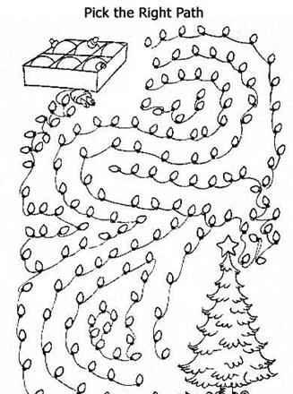 Printable Mazes - Print your Easy Maze Christmas Tree puzzle ...